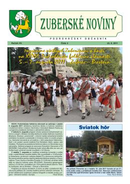 Zuberské noviny 3/2011 Formát PDF