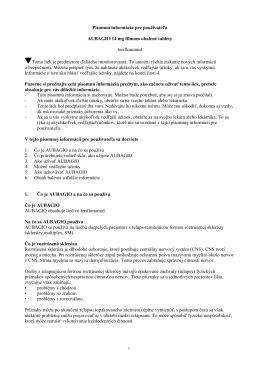 Písomná informácia pre použivaťelov