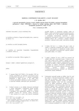 SMERNICA EURÓPSKEHO PARLAMENTU A RADY 2011/83/EÚ o