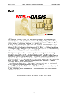 príručku práce s programom OASIS