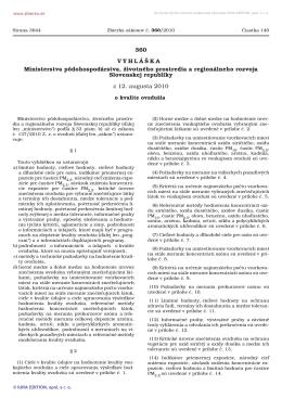 360/2010 Vyhláška Ministerstva pôdohospodárstva