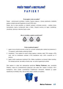 Prečo triediť a recyklovať papier