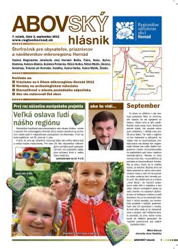 3/2012 - Regionálne združenie obcí Hornád