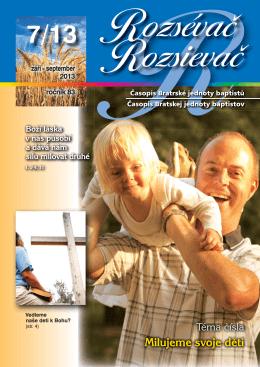Rozsievac 2013 - 7.indd - Bratská jednota baptistov