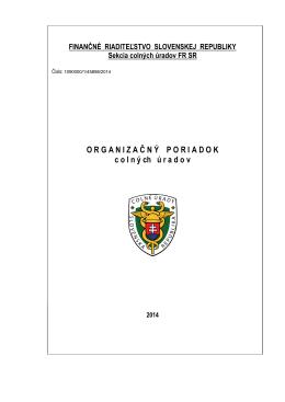 Organizačný poriadok colných úradov