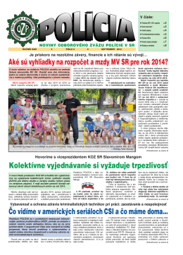 policia09/13 - Odborový zväz polície v Slovenskej republike