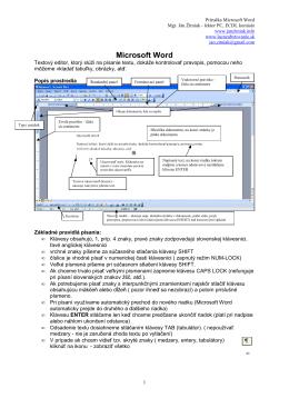 Príručka Microsoft Word