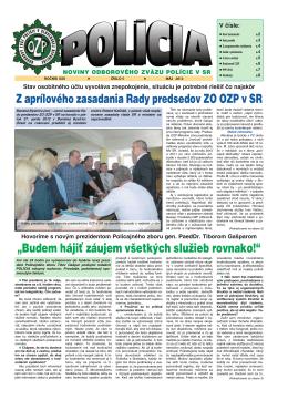 policia05/12 - Odborový zväz polície v Slovenskej republike