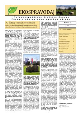 Ekospravodaj ročník 2011, číslo 1 [PDF, 4 MB]