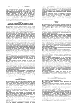 Všeobecné zmluvné podmienky 2015