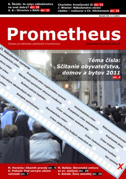 Téma čísla - Spoločnosť Prometheus