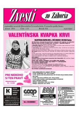 Január 2014 - Senica - Slovenský Červený kríž