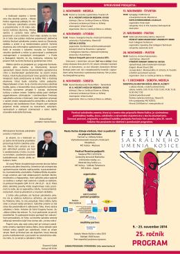 Programový bulletin festivalu