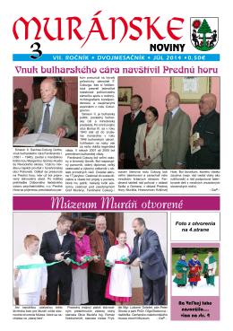 Muránske noviny 3/2014