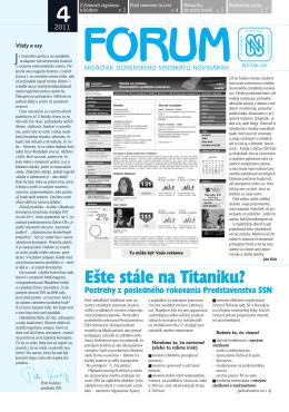 4 - Slovenský syndikát novinárov