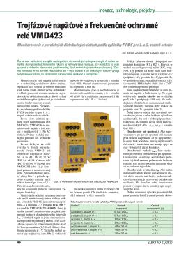 Trojfázové napäťové a frekvenčné ochranné relé VMD423