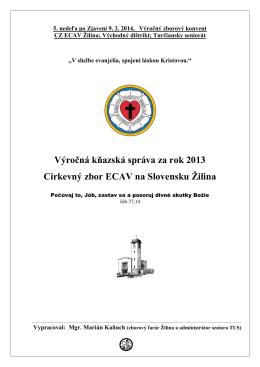 Kňazská správa za rok 2013, M.Kaňuch