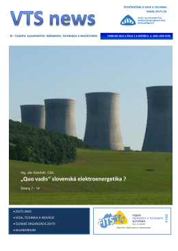 """""""Quo vadis"""" slovenská elektroenergetika ?"""
