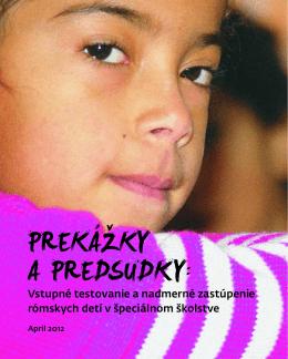 Vstupné testovanie a nadmerné zastúpenie rómskych detí v