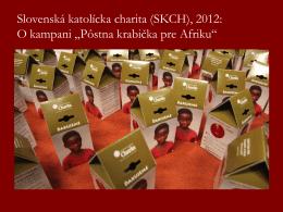 Stačí kliknúť TU - Slovenská katolícka charita