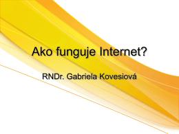 Ako funguje Internet?