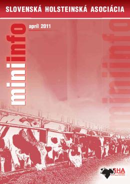 MiniInfo 04/2011 - Slovenská holsteinská asociácia