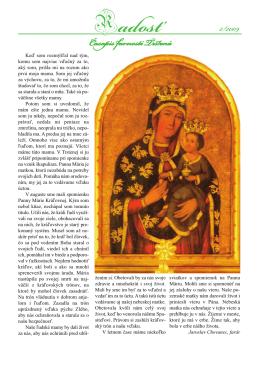 Farský časopis Radosť 2/2009