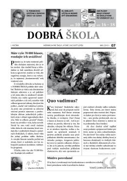DOBRÁ ŠKOLA - Nové Školstvo