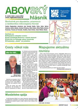 1/2013 - Regionálne združenie obcí Hornád