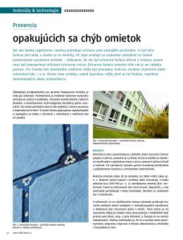 opakujúcich sa chýb omietok - Inštitút pre kvalitu v stavebníctve