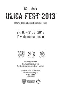 Stiahnuť bulletin – Ulica Fest 2013
