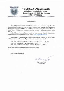 Celý list. - Miešaný spevácky zbor Technik Akademik