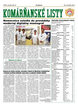 Komárňanské listy 21/2014