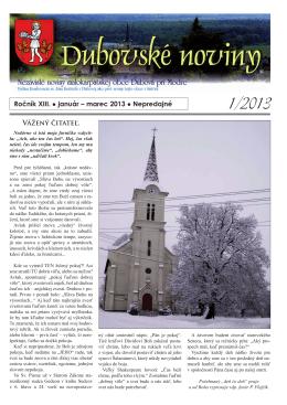 1/2013 - Dubová