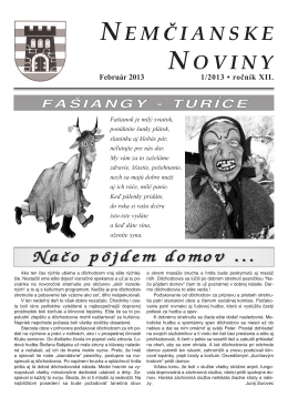Nemčianske noviny č. 1/2013