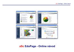 aSc EduPage - Online návod - aSc EduPage