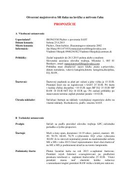 Propozície - Powerliftingslovakia