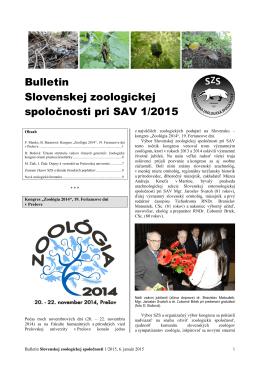 2015/1 - Slovenská zoologická spoločnosť pri SAV
