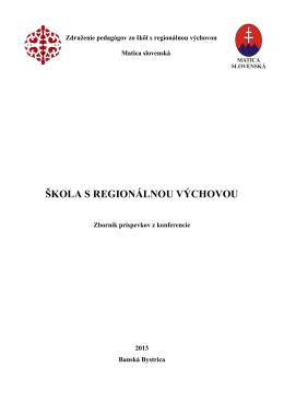 Zbornik 2013 - regioskola.sk