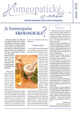 Homeopatické Zvesti 1-2010