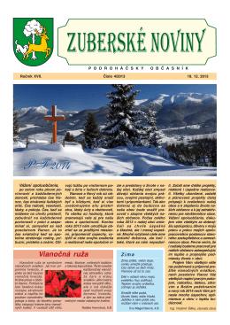 Zuberské noviny 4/2013 Formát PDF