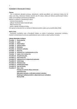 Pravidlá futbalu platné od 1.7.2011