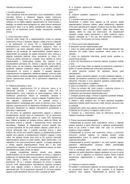 Všeobecné zmluvné podmienky I. Úvodné
