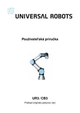 Používatel`ská príruˇcka UR3/CB3