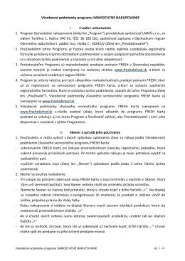 Všeobecné podmienky programu SAMOSTATNÉ