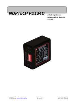 NORTECH PD134D Inštalačný manuál