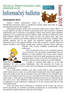 01-2015 - Farnosť sv. Štefana Uhorského Zbudské Dlhé