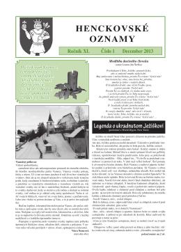 henckovske oznamy 2013