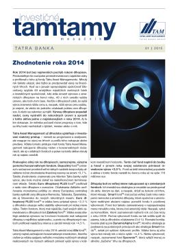 Zhodnotenie roka 2014 - Tatra Asset Management