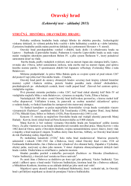 Oravský hrad (Lektorský text – základný 2015)